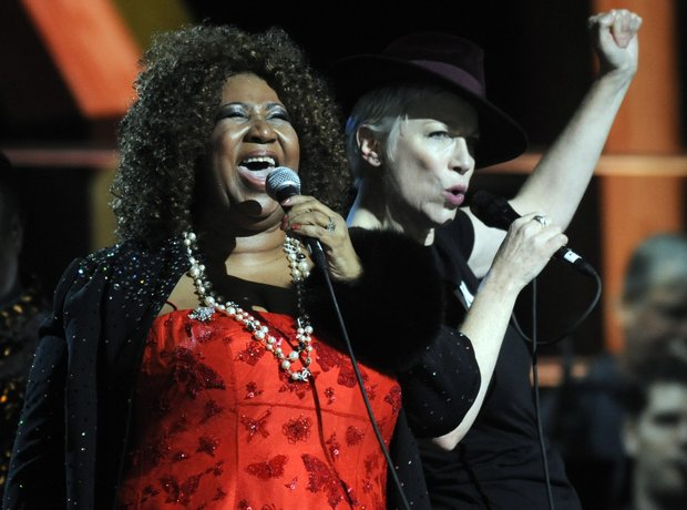 Annie Lennox and Aretha Franklin