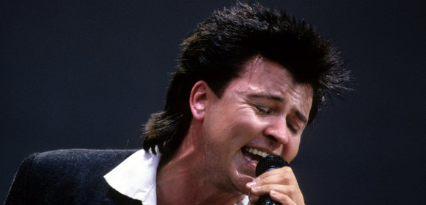 Paul Young performing at Live Aid, 1985