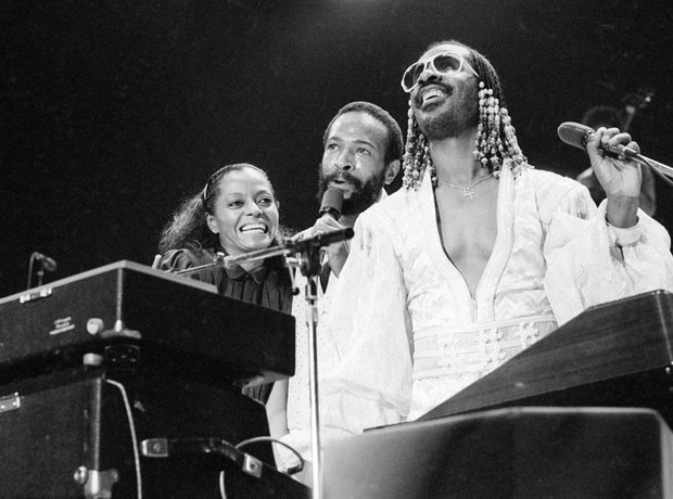 Diana Ross, Marvin Gaye and Stevie Wonder