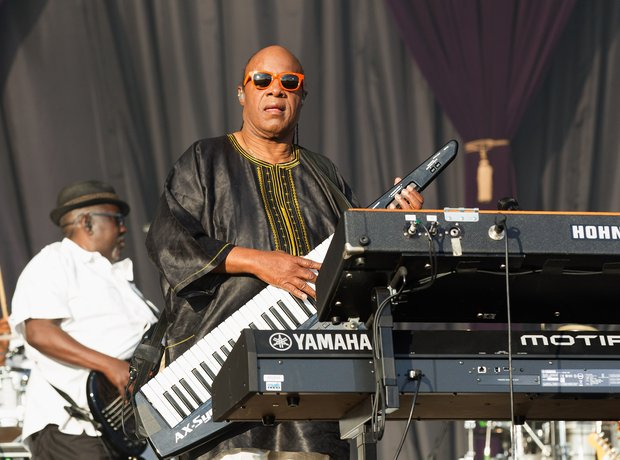 Stevie Wonder performing at Calling Festival in Lo