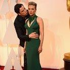Scarlett Johansson and John Travolta kissing