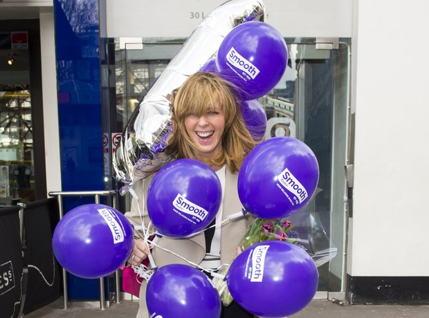 Kate Garraway celebrates her first anniversary at