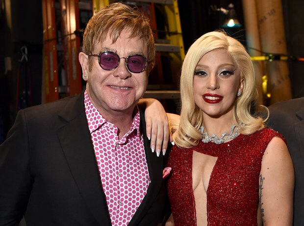 Sir Elton John and Lady Gaga
