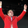 39. Elton John waving to the crowd at Kingsholm this weekend.
