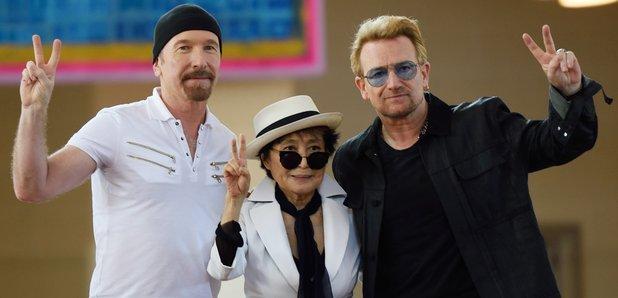 Bono, The Edge, Yoko Ono on Ellis Island
