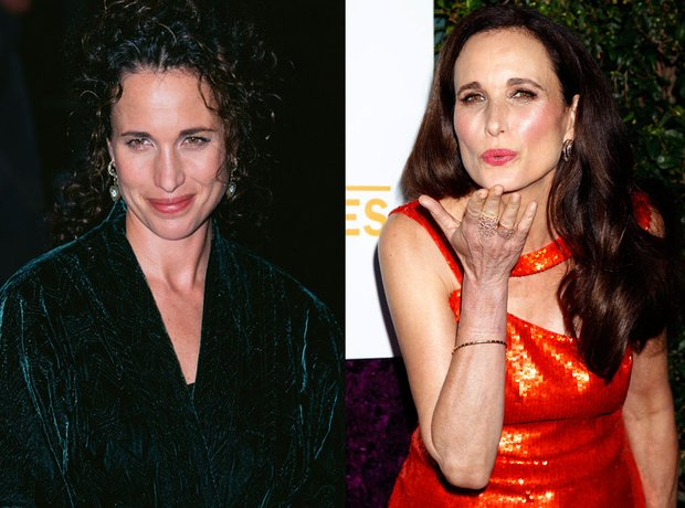 Andie MacDowell then and now