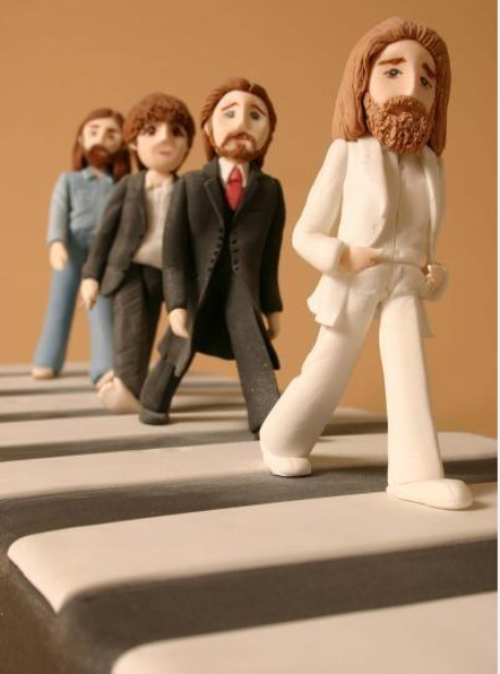 music inspired beatles cake