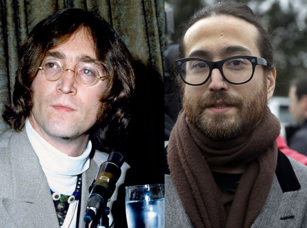 John and Sean Lennon