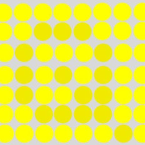 Dots in the letters optical illusion