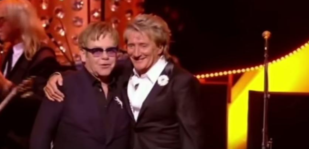 Elton John and Rod Stewart 2013 Brit Icons Award