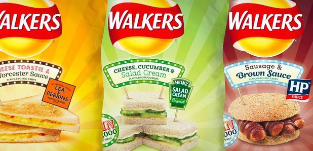 Walkers sandwich flavour crisps