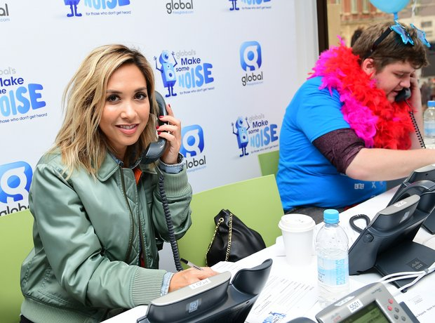 Myleene on the phones