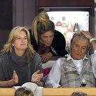 Singer Rod Stewart, Penny Lancaster and Rachel Hun
